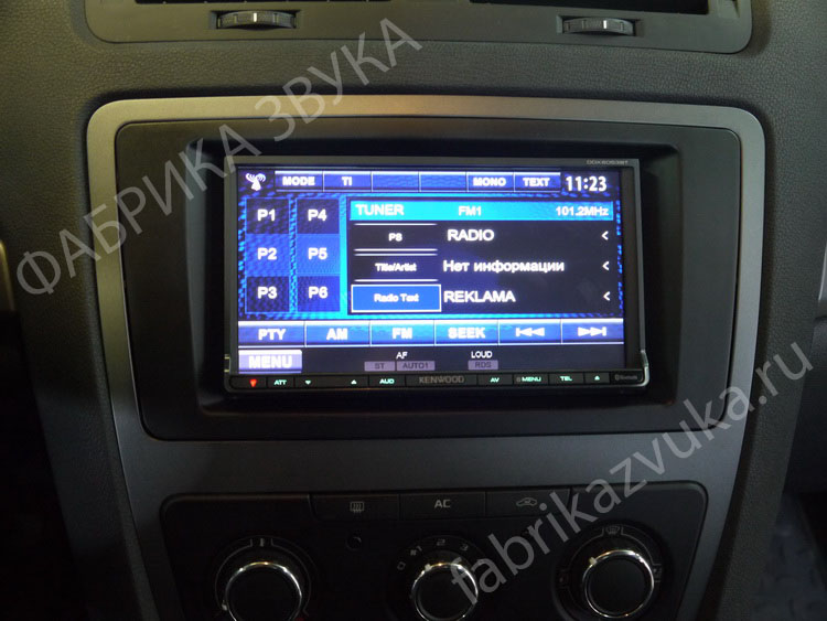 Установка 2 din магнитолы Kenwood DDX6053BT