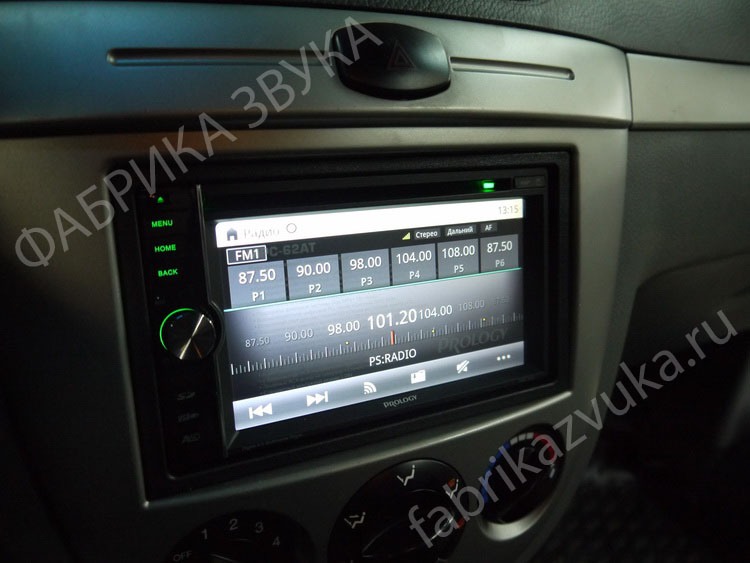 Установка 2 din магнитолы Prology MPC-62AT на Chevrolet Lacetti